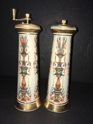 "Lenox Lido Tall Salt Shaker & Pepper Grinder 7.5"" tall"