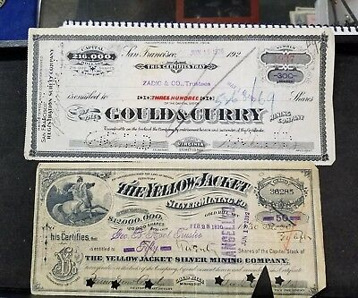 Gold Hill And Virginia City Mining Stocks Neat History L@@k...