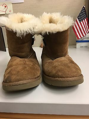 Girl's Beige UGG Boots Size 2