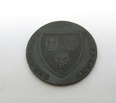 1794 Great Britain Shropshire Shrewsbury Salop Woolen Manuf. Half Penny Token