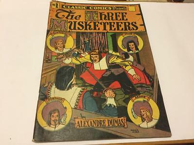 CLASSICS ILLUSTRATED Comic Book No. 1 The Three Musketeers HRN 28