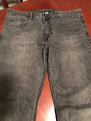 Men's Banana Republic Black Faded Wash Slim Fit Jeans 34X32
