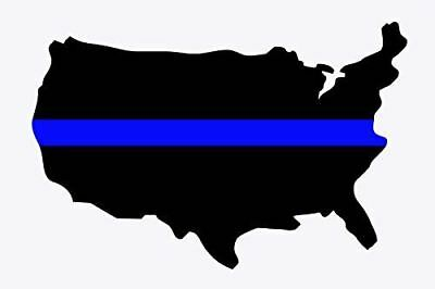 Thin Blue Line Poster Police Officer Poster USA Poster 18x24