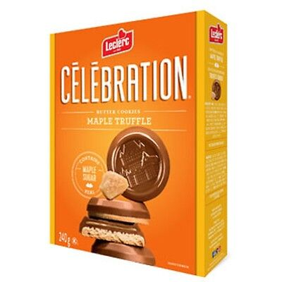 Leclerc Celebration 1905 Milk Chocolate Maple Truffle Butter Cookies