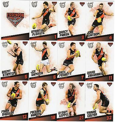 2017 Afl Select Certified Essendon Bombers Full Set Of Commons 12 Cards !!!