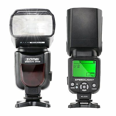 Zomei ZM430 Canon Flash Flashlight Speedlite Manual for Canon&Nikon Camera Flash