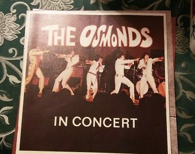 The Osmonds in Concert Program guide July 23rd 1972 - with original ticket