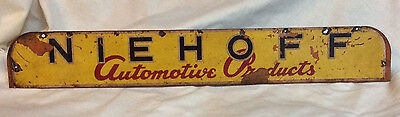 Niehoff Automotive Products Rack Sign - Vintage Sign - Display Rack Counter Sign