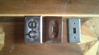 3 Art Deco Light Switch Covers and Switch