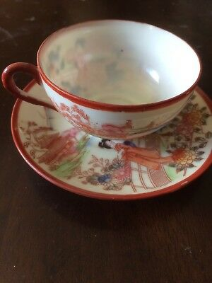 Vintage Chinese Translucent Tea Cup & Saucer