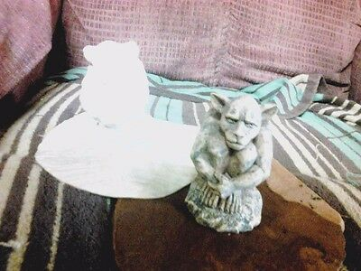 Small Gargoyle Latex Mold for Concrete , Plaster or even Wax !