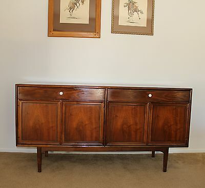 Mid Century 1963 Drexel Kipp Stewart Declaration Walnut Credenza with Lighting