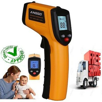 Temperature Gun Noncontact Infrared Laser Digital Thermometer Baby FDA Approved