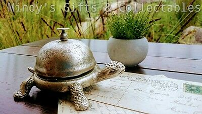 Antique Style Sliver Turtle Service Counter Bell Reception Shop Hotel Restaurant