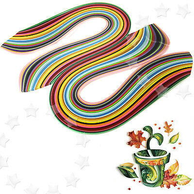 720Pcs Quilling Paper Art Strips Mixed 36 Color DIY Origami Papercraft 3mmx540mm