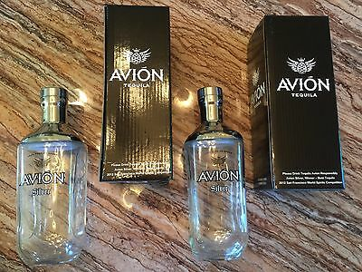 2 Rare Avion Tequila Silver Glass Stainless Steel Shakers! Margaritas!