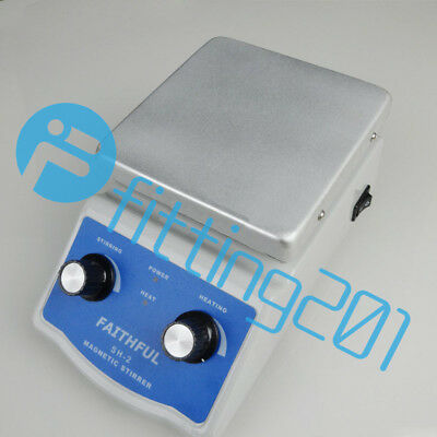 SH-2 Digital Lab Hot Plate Magnetic Stirrer Mixer Thermostatic 220V 180W NEW