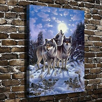 Wolf Animal Paintings HD Printed on Canvas Home Decor Room Wall Art Pictures