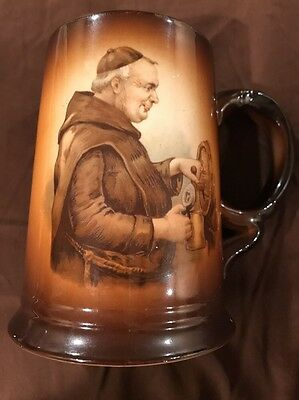 Vintage Collectible Mug Stein USONA Goodwin Monk Pouring Beer From A Keg Nice!