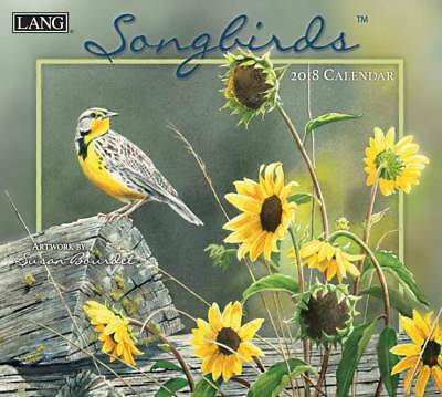 2018 LANG Calendar SONGBIRDS New Wall Calender Fits Wall Frame FREEPOST Colle...