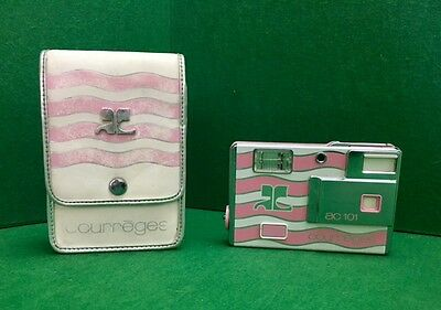 Minolta vintage Courreges Rare Pink ac 101 Disc camera 1980's Wave with Case