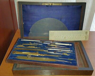 Antique 19th Century Architect Engineers Drafting Set
