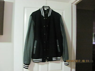 Just Jeans Men's Baseball/varsity Jacket Size Medium Dry Cleaned P/up Or Post