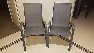 2 x Outdoor dining chairs