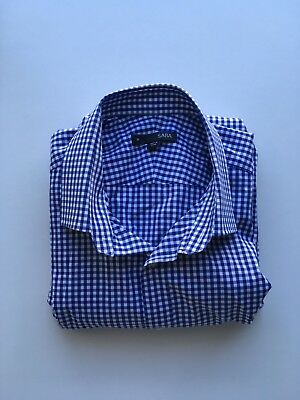 Saba Men's Blue Gingham Casual Business Shirt