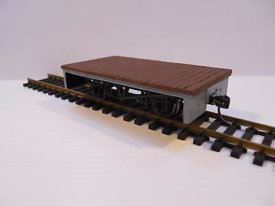 Narrow gauge Gn15 (1:24 scale) flat wagon. Also suit On30 or O:16.5 lot 2 of 2