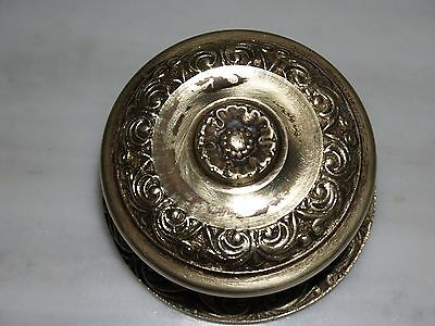 Vintage Greece Solid Brass Large Ornate Door Knob Handle Push/Pull #24