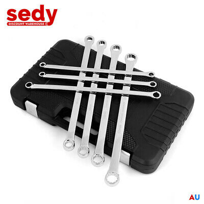7 Piece Aviation Extra Long Double Ring Spanner Set 10mm - 24mm