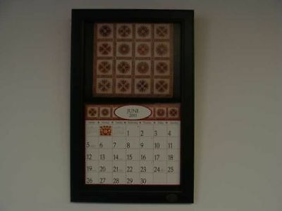 2018 Lang / Legacy Calendar Frame Wooden Painted Black New Display your calender
