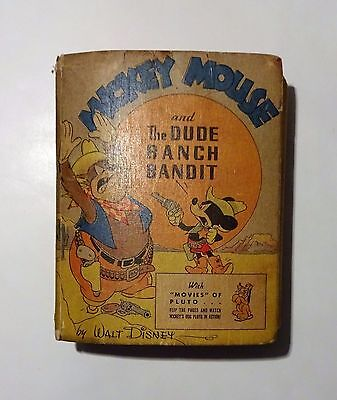 1943 MICKEY MOUSE And The Dude Ranch Bandit, Big Better Little Book, Walt Disney