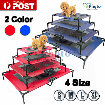 Red/Blue Heavy Duty Pet Dog Cat Summer Bed Trampoline Hammock Cot Size S M L XL