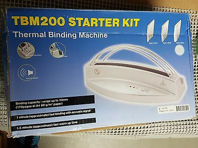 thermal binding machine tbm200 starter KIT