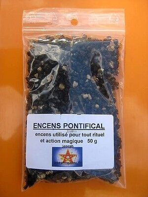 PONTIFICAL - ENCENS EN GRAINS  - MAGIE BLANCHE - PROTECTION - VOYANCE- 50Gr