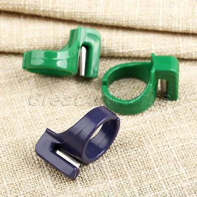 3Pcs Line Cutter Ring Knife Thimbles Sewing Tool Fit For Finger Cut String Yarn