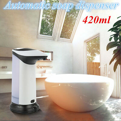 Dispenser Soap Sensor Automatic Touchless IR Liquid Stainless Free Hands WL0H5