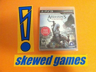 Assassins Creed III 3 - Brand NEW Factory SEALED! - PS3 PlayStation 3 Sony NEW