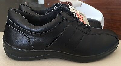 Bennicci Black Leather Shoes Size 7 Orthotic Friendly