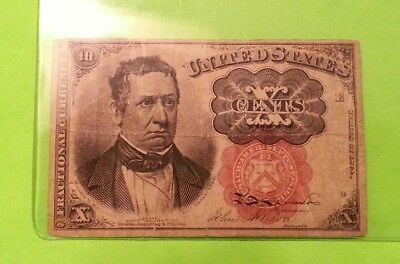 1874 U.S. 10 Cent Fractional Currency Bank Note