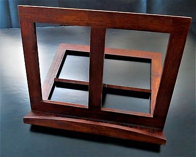 NEW Recipe Book Stand: Cookbook, Bible, Tablet Dk Wood Tabletop Easel by LEED's