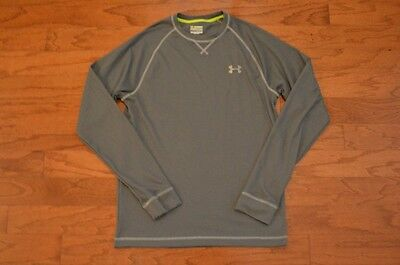 Men's UNDER ARMOUR Gray Long Sleeve T Shirt Size Small S