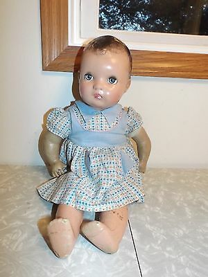 Vintage Horsman Enchanting Eyes Composition Doll NICE!! Unmarked CRIES