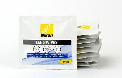 Nikon Pre Moistened Lens Cleaning Wipes Without Streaks for Eyeglasses 200 ct
