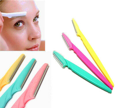 New Womens Mens Unisex 3x Eyebrow Razor Trimmer Shaper Shaver Hair Remover Set