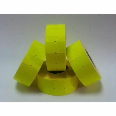 12,500 FLUORESCENT Yellow CT1 Price Gun Labels For Motex MX-5500