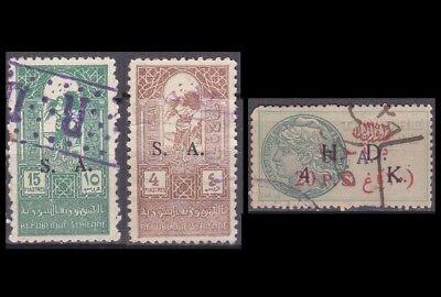 Syria Syrie Alexandrette Hatay Exceptional & Very Rare Revenue Stamp Collection