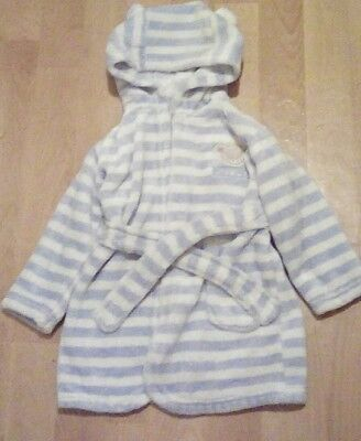 Blue early days 12-18m fluffy dressing gown good condition